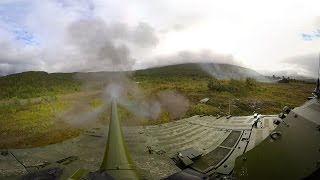 360 view from a combat vehicle autocannon