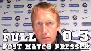Brighton 0-3 Man Utd - Graham Potter FULL Post Match Press Conference - Premier League
