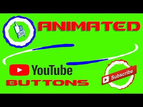 Animated Subscribe, like & share button Without Sound Effect - Royalty Free Footage