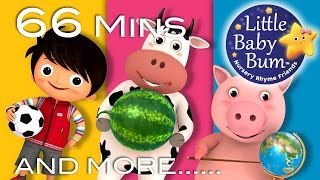 Shapes Songs   Circles   Plus Lots More Nursery Rhymes   66 Minutes Compilation from LittleBabyBum!