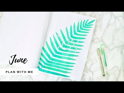 June Bujo Setup | Plan with me | Minimal Bullet Journal