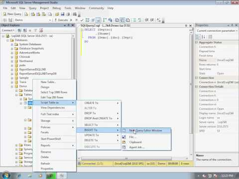 05-How to generate scripts for a particular table in SQL Server database