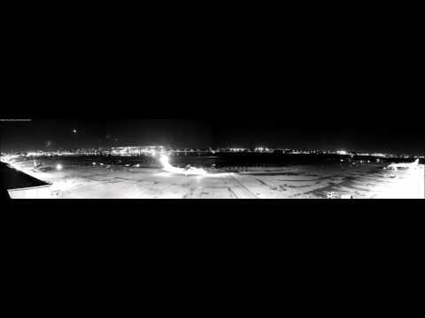 London City Airport. Panoramic Night Timelapse