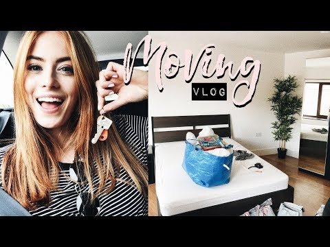 GETTING THE KEYS TO OUR NEW FLAT! MOVING VLOG #1| MsRosieBea