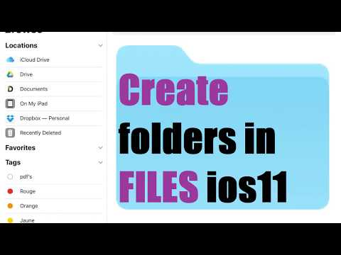 How to create  folders in FILES ios 11 IPAD/IPHONE