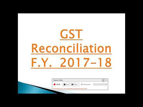 GST Reconciliation F.Y.  2017-18