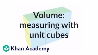 Volume Measuring With Unit Cubes Measurement Pre Algebra Khan Academy