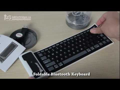 Review of KP-C966 Mini Wireless Bluetooth Foldable Keyboard Tensile USB Cable PC/IPHONE