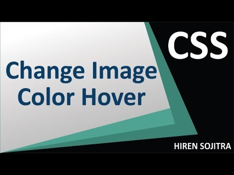 Change Image Color On Hover Using CSS #9 (By Hiren Sojitra)