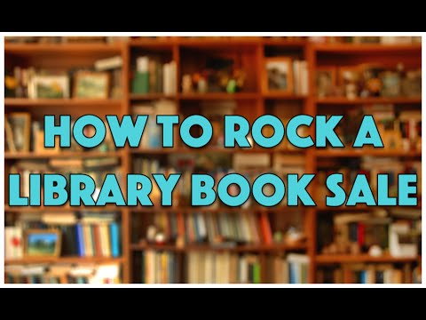 How To Rock a Library Book Sale
