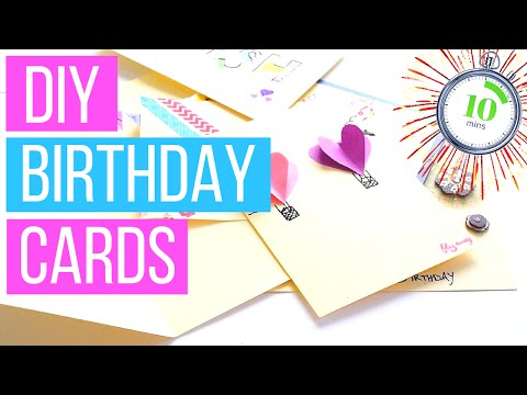 DIY Birthday Cards You Can Make In Less Than 10 Minutes!!! + GIVEAWAY NEWS!