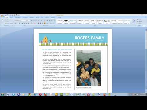 Create a Newsletter With Microsoft Word 2007