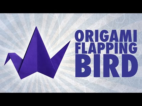 Origami Flapping Bird (Folding Instructions)