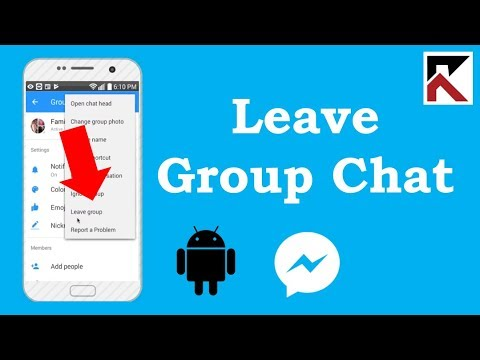 How To Leave A Group Conversation Facebook Messenger Android 2018