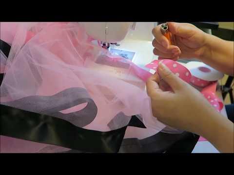 How I make a ribbon trim tutu with less ribbon ~ Tutorial