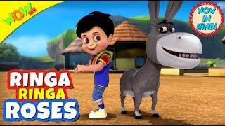 Ring-A-Ring  | 3D Animated Kids Songs | Hindi Songs | Vir | WowKidz