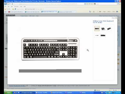 Large Print Keys Keyboards for people with vision problems macular degeneration cataracts