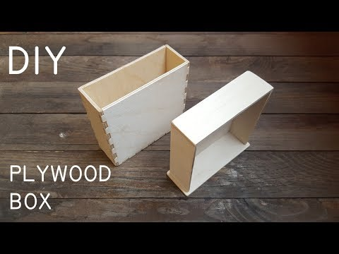 How to make a small plywood box using finger joints