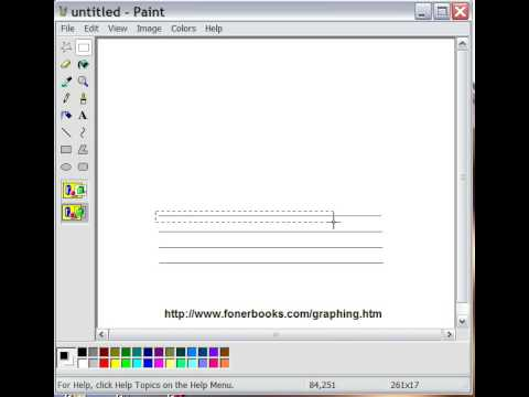 Make Your Own Graph Paper In Windows - Step 1, Drawing A Grid In Paint
