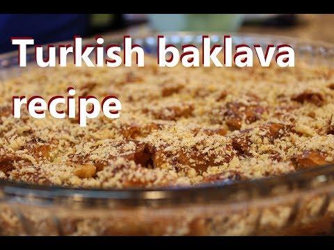 Turkish baklava recipe