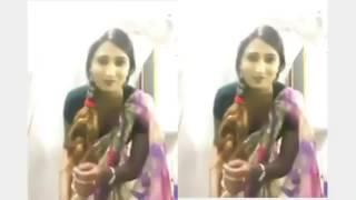 Telugu Actress Swathi Nadu in Saree Showing Milk Balls
