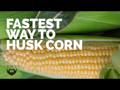 Fastest Way to Husk Corn