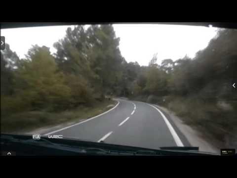 Onboard Kubica rally Catalunya-costa Daurada ss13 2015