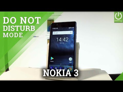 Do Not Disturb Mode in NOKIA 3 - Enable / Use Do Not Disturb
