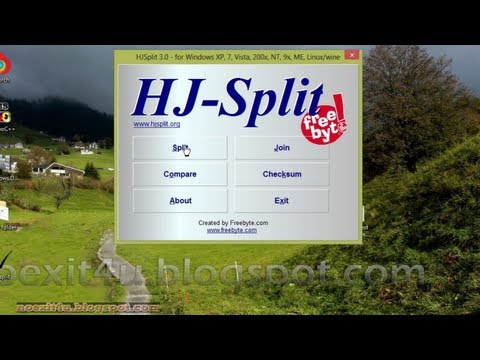 HOW TO SPLIT FILES INTO PARTS AND JOIN THESE PARTS USING HJSPLIT