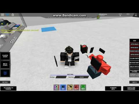 How To make armor in build your own mech in roblox