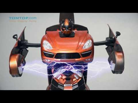 JIA QI Remote Control RC Robot Car One Key Transformation Autobot Deformtion Robot