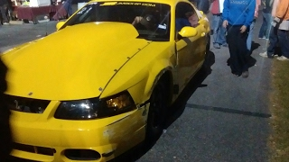Street outlaws boosted GT crash!!!!! @ Mobile drags