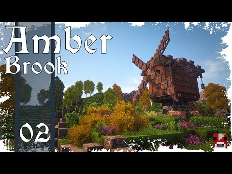 Minecraft Timelapse - Amber Brook 02 - WINDMILL - collab w. fWhip!