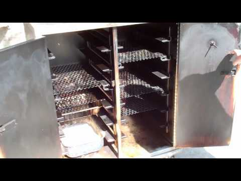 Commercial food warmer turned into a charcoal BBQ smoker!