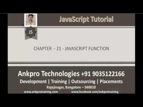 JavaScript for beginners - Chapter 21 - Function (Methods) in JavaScript
