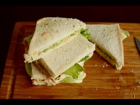 How to Make Veg Mayonnaise Sandwich | Kids Tiffin Sandwich Recipe