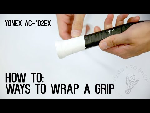 How To: Wrap a Badminton Racket with Grip - YumoTube