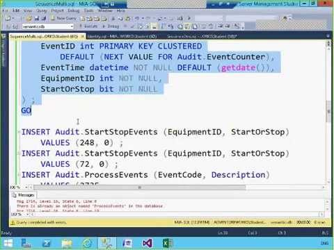 Sequence Numbers in SQL Server 2012 and 2014