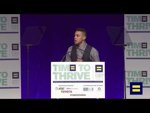 HRC Youth Ambassador Weston Charles-Gallo Speaks at 2018 Time To Thrive LGBTQ Youth Conference