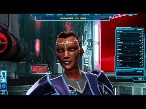SWTOR Character Creation (Live)