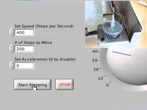 Etch-A-Sketch Stepper Motor Control with LabVIEW and Arduino