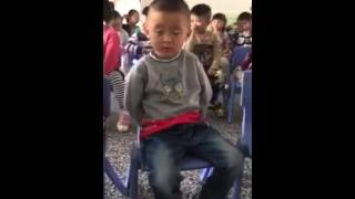 Napping And Clapping Cute China Boy