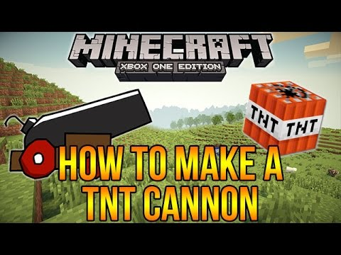 Minecraft Xbox One: Working TNT Cannon Tutorial - Easy to Build