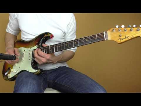 Unplugged acoustified Sound of a vintage 1962 Fender Stratocaster without amp! Different styles.