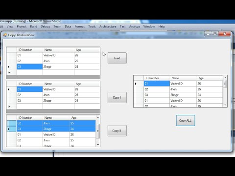 How to copy datas one gridview to another gridview