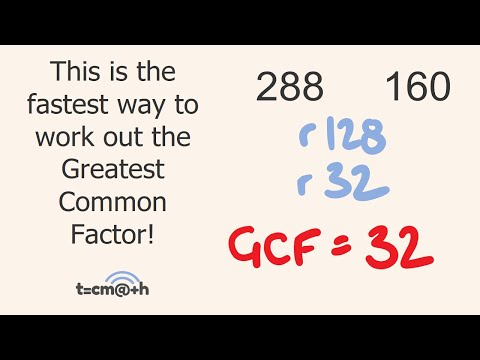 Greatest Common Factor Trick GCF