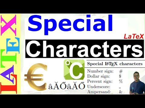 How to use Special Characters/Symbols in LaTeX (LaTeX: Tips/Solution-35)