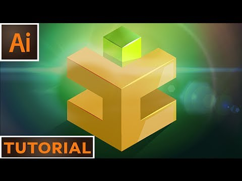 Create a 3D Cube logo with the 3D extrude tool - Illustrator