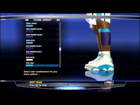 Create Charlotte Hornets NBA 2K14 + Add to association/season + Preview