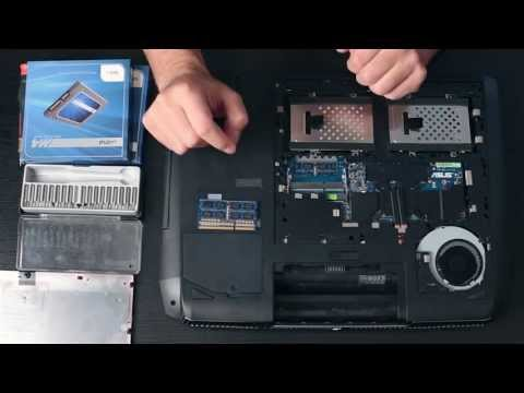 How to Upgrade RAM and Hard Drives on the Asus G75VW-DS73
